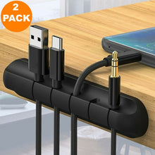 Load image into Gallery viewer, 2 Pack 5 Clips Cable Organizer Cord Management Charger Desktop Wire Holder 3M