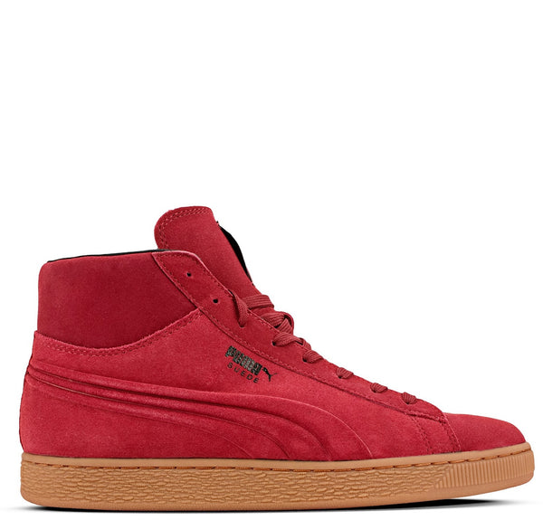 Suede Mid Emboss Red