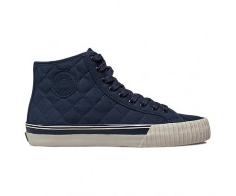 Center Hi Quilted Navy