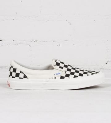 Vans OG Classic Slip-On LX 'Black/White Checkerboard'