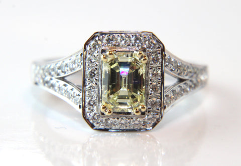 Campbell Jewellers Emerald Cut Yellow Diamond Engagement Ring