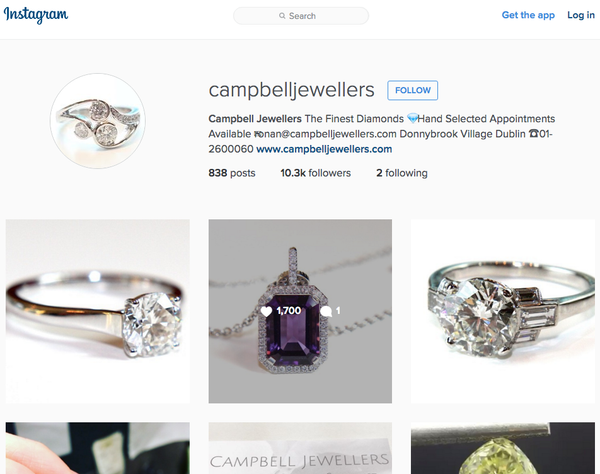 Campbell Jewellers Instagram Page Diamond Ring Specialist