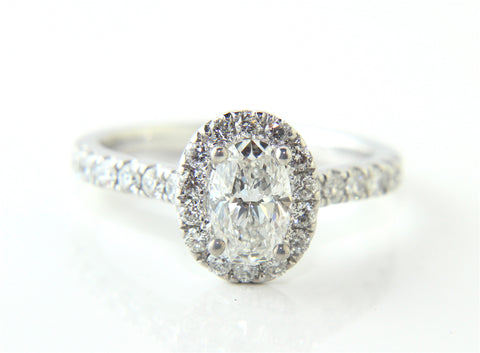 Oval Halo Diamond Engagement Ring Campbell Jewellers Dublin Ireland