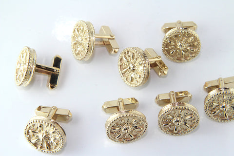 The Finished Gold Cufflinks Commission - Campbell Jewellers Dublin Ireland