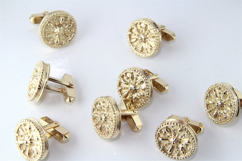 The Finished Bespoke Gold Cufflinks Commission - Campbell Jewellers Dublin Ireland