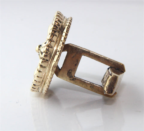 Bespoke Gold Cufflinks Commission Campbell Jewellers Dublin Ireland