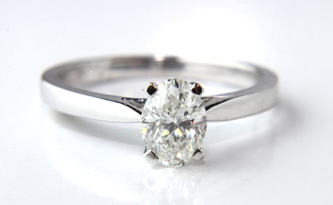 Solitaire Oval Diamond Engagement Ring Campbell Jewellers Dublin Ireland