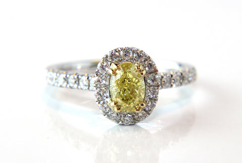 Campbell Jewellers Oval Cut Yellow Diamond Engagement Ring
