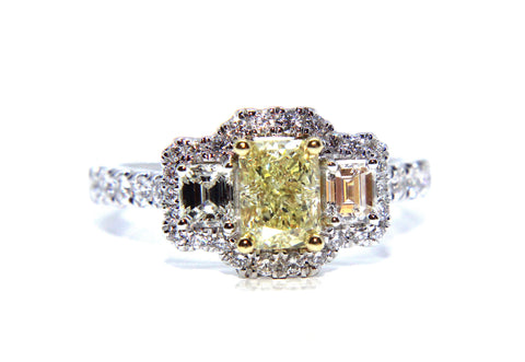Yellow Diamond Engagement Rings Campbell Jewellers Dublin Ireland