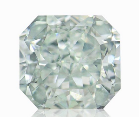 Campbell Jewellers 0.77ct Light Green Radiant Shape GIA Certified Diamond