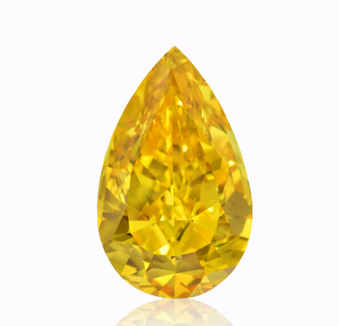 Campbell Jewellers 0.80ct Campbell Jewellers Fancy Vivid Orange Yellow Pear Shape GIA Certified Diamond