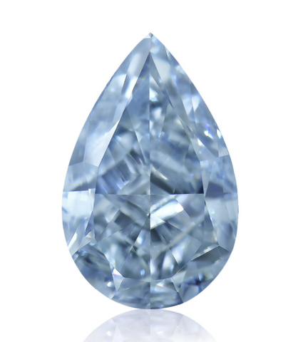 Campbell Jewellers 0.82ct Fancy Intense Blue Pear Shape GIA Certified Diamond