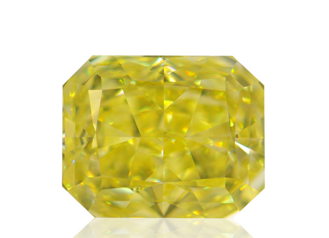 Campbell Jewellers 1.02ct Fancy Intense Yellow Radiant Shape GIA Certified Diamond