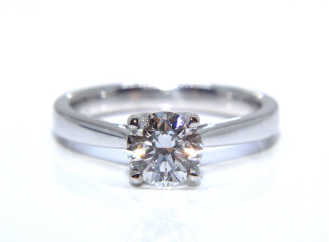 Platinum Four Claw Solitaire Diamond Engagement Ring 1.02ct - Campbell Jewellers