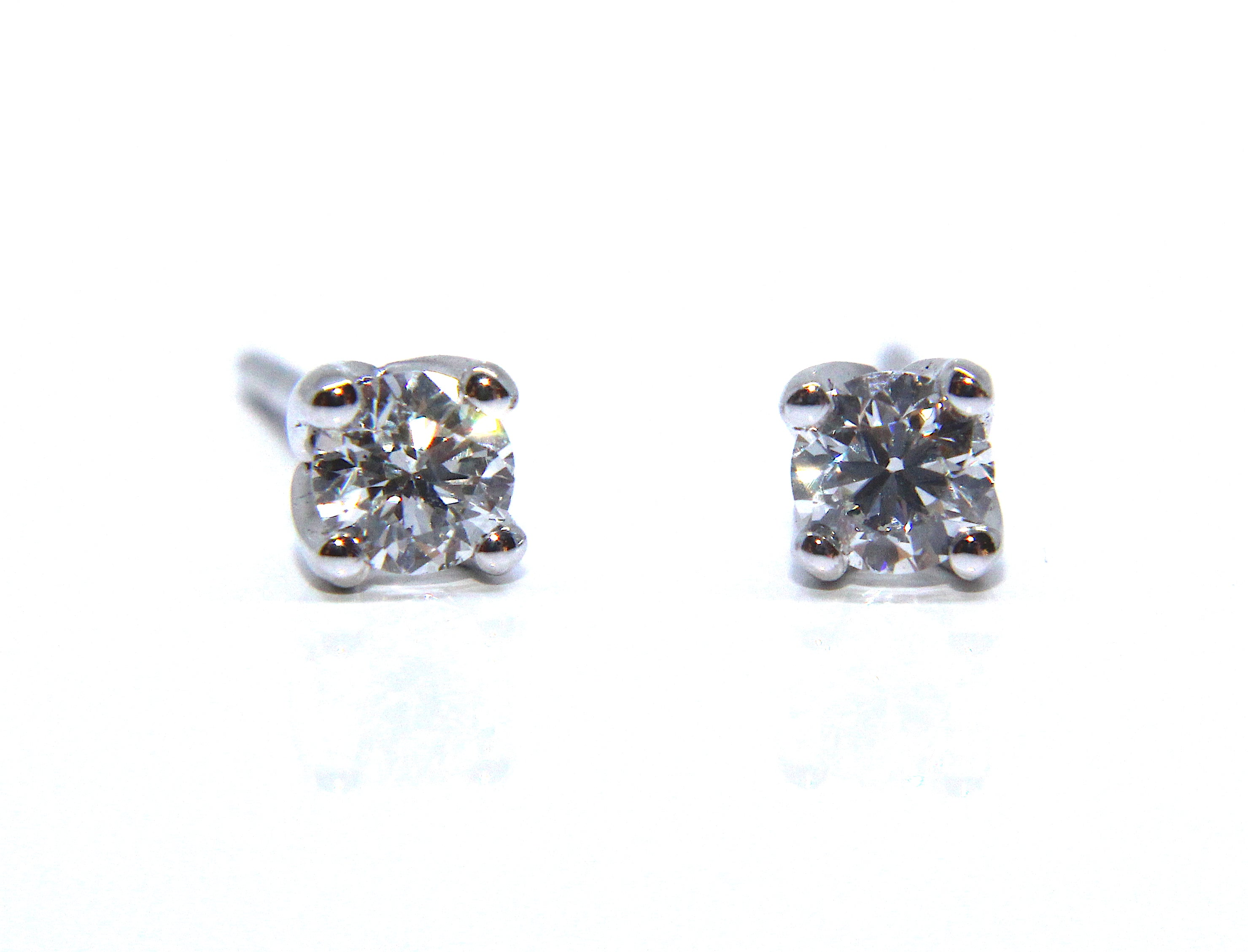 earrings in stud diamond white gold jewellery tw