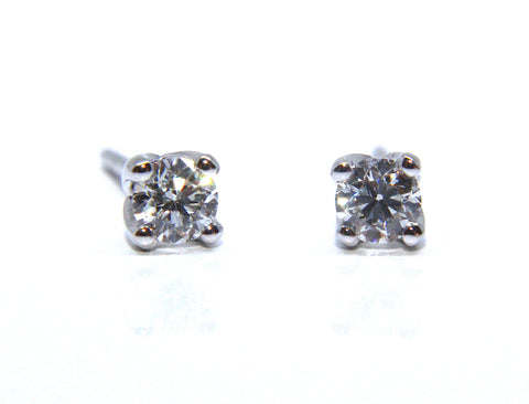 Campbell Fine 18ct White Gold Diamond Stud Earrings 0.38cts