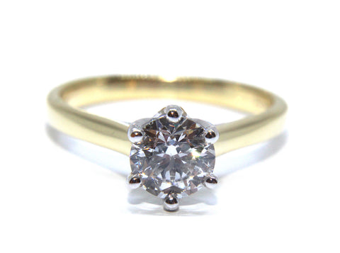 Campbell 18ct Gold Round Diamond Solitaire Engagement Ring 1.00ct