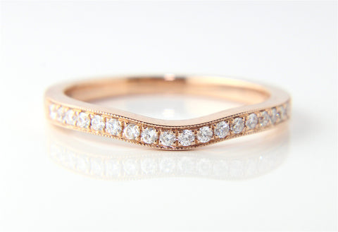 18ct Rose Gold Grain Set Wedding Eternity Ring - Campbell Jewellers  - 1