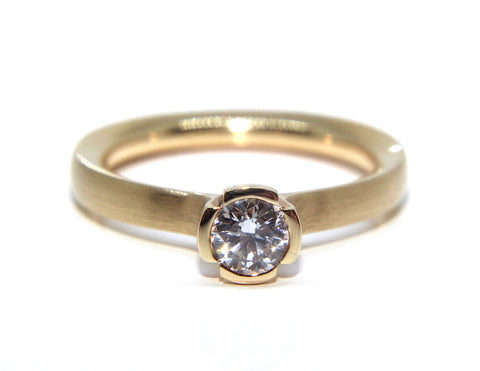 18ct Rose Gold Round Solitaire Diamond Engagement Ring