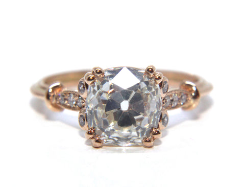 Campbell Jewellers | 18ct Rose Gold Old Cut Diamond Engagement Ring
