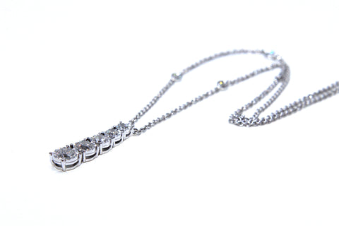 Campbell Fine 18ct White Gold Diamond Necklace 0.78ct