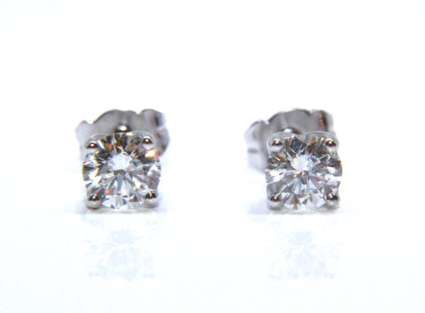 Campbell Fine 18ct White Gold Diamond Stud Earrings 1.25cts