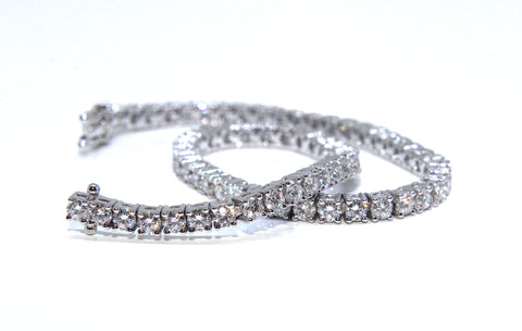 Campbell Fine 18ct White Gold Diamond Tennis Bracelet 4ct