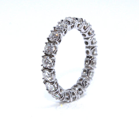 Campbell 18ct White Gold Round Brilliant Full Hoop Diamond Eternity Ring 2.00ct