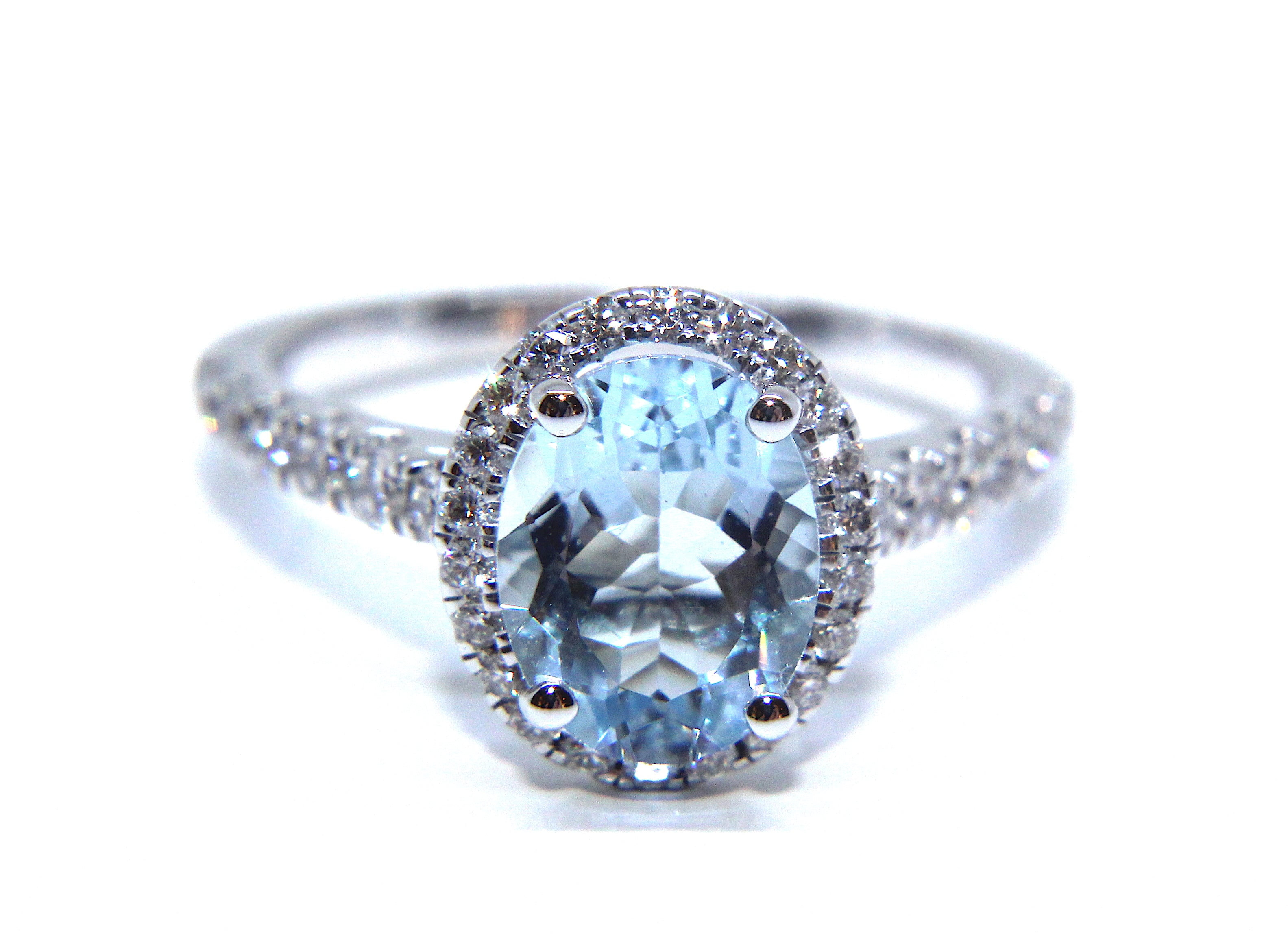 aqua aquamarine wedding engagement collection flower marine diamond rings ring and product lotus home