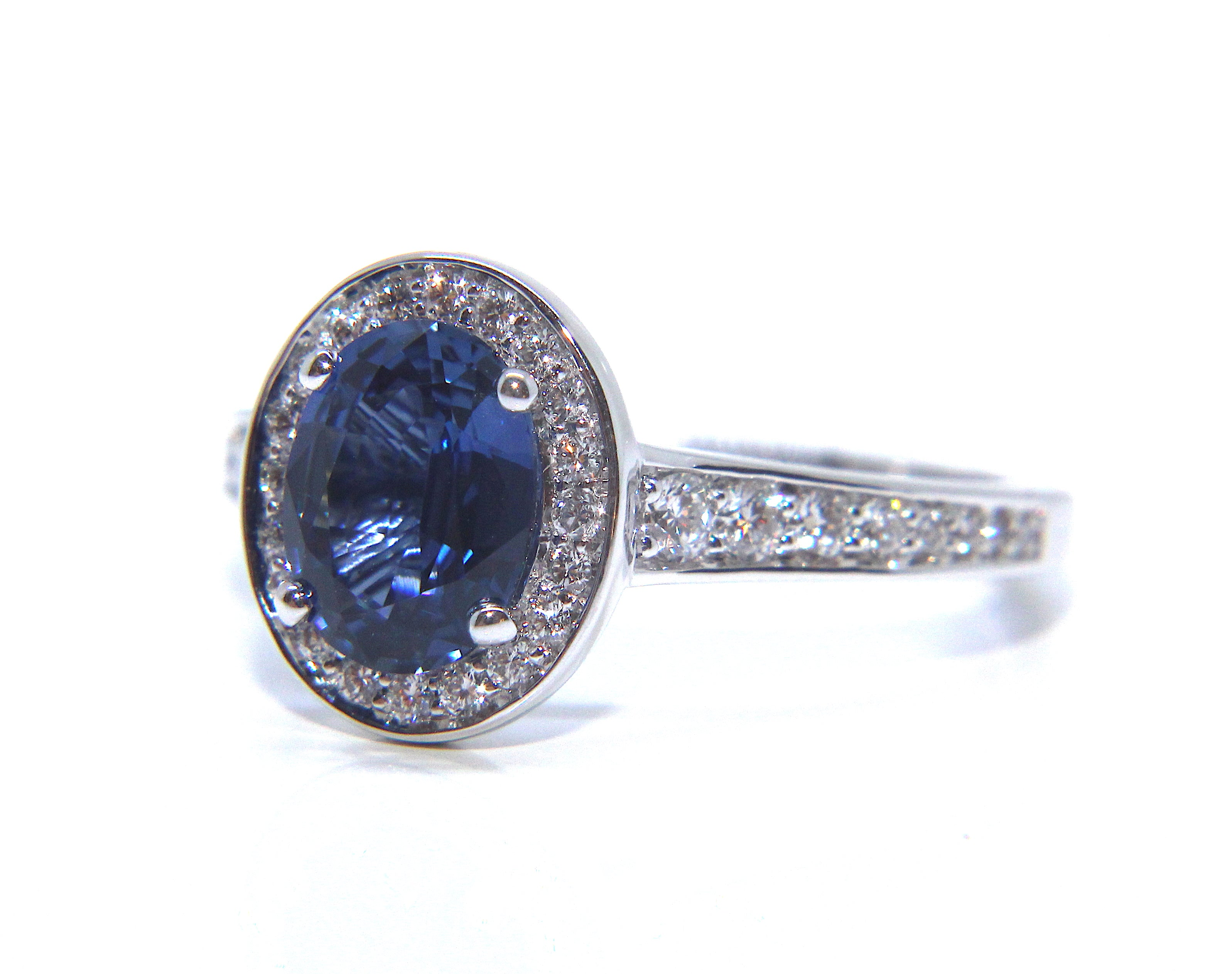 sapphire platinum blue and cornflower products engagement ring rings