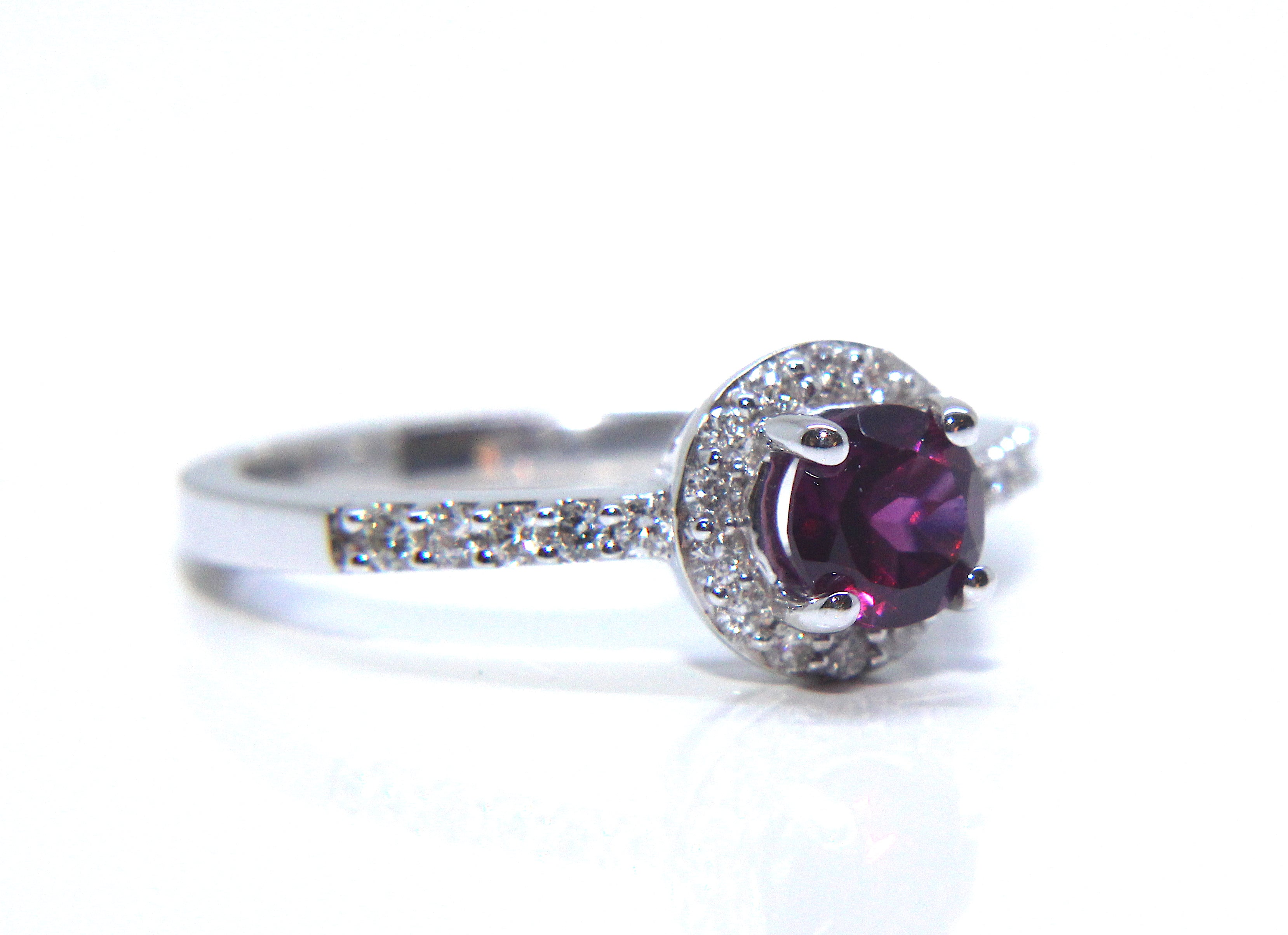 product freya garnet jewellery kata collection ring silver gold diamond white