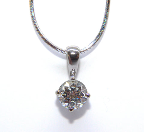 Fine 18ct White Gold Round Brilliant Diamond Necklace 0.50ct - Campbell Jewellers