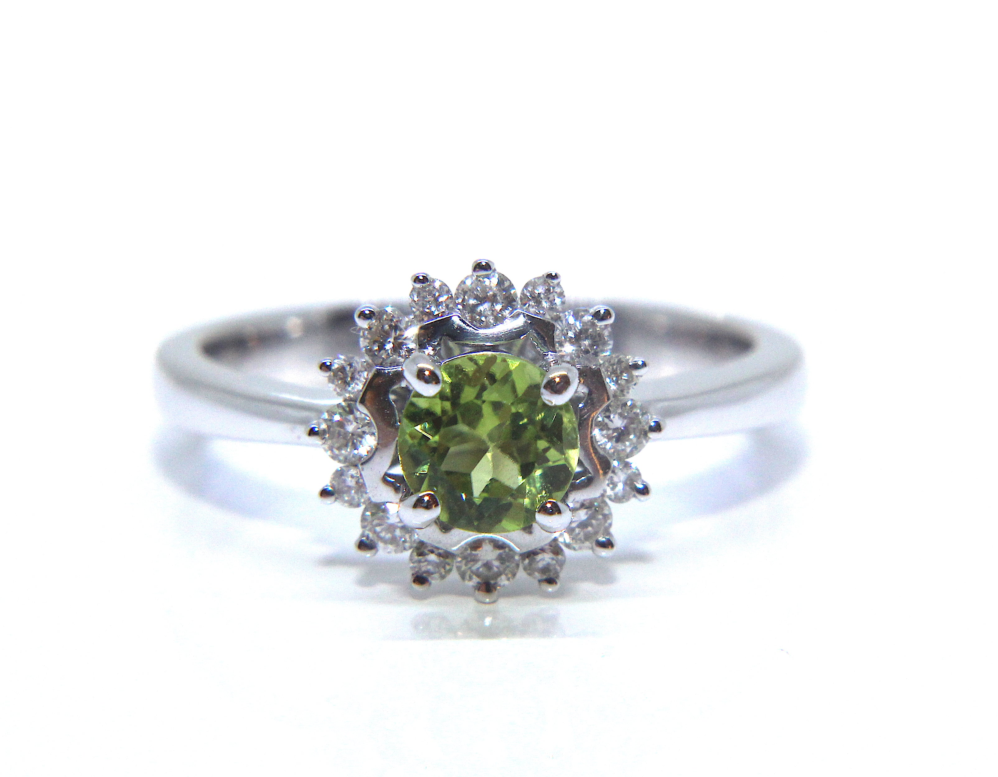 product engagement ring gold image rings diamond halo peridot yellow and
