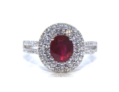 18ct White Gold Ruby Diamond Ring 2.08ct - Campbell Jewellers