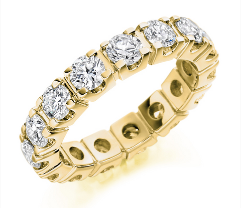 Campbell Jewellers 18ct Yellow Gold Diamond Full Wedding/Eternity Ring 3.30ct