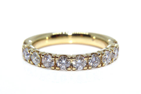 18ct Yellow Gold Round Brilliant Diamond Eternity Ring 1.00ct Campbell Jewellers