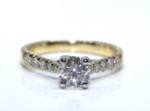 Campbell 18ct Yellow & White Gold Round Brilliant Engagement Ring 0.95ct