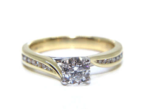 Campbell 18ct Gold Channel Set Twist Diamond Engagement Ring 0.86ct