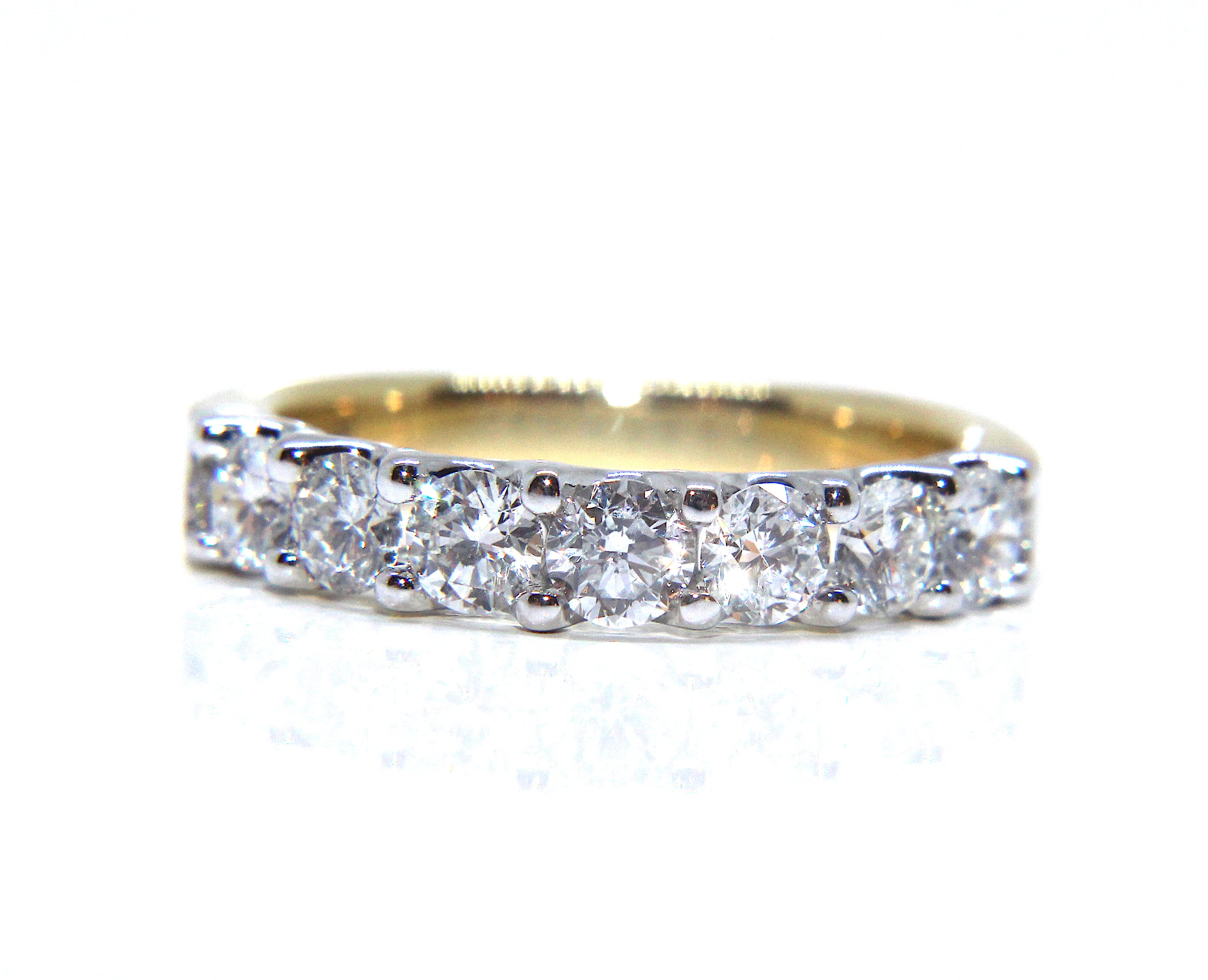 diamond princess cut ring carat jewellery full platinum eternity rings