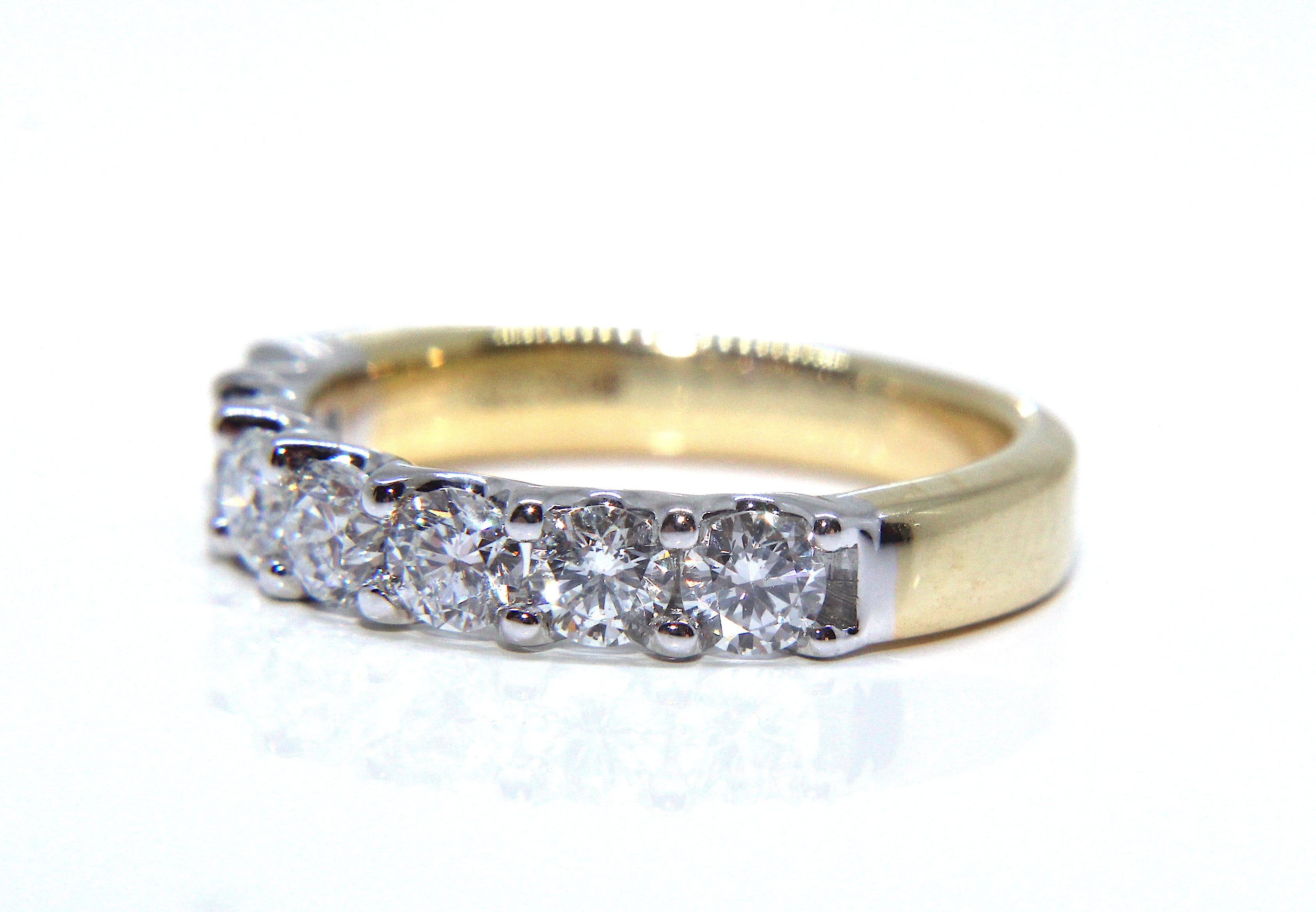 bands wedding diamond engraved white in gold ring with band designs hand side eternity top