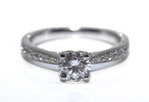 18ct White Gold Diamond Engagement Ring 0.92ct Campbell Jewellers