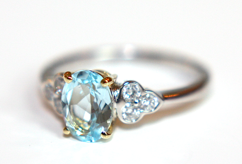 Campbell Aquamarine & Diamond Engagement Ring - Campbell Jewellers  - 1