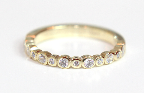Campbell Bubble Diamond Wedding & Eternity Ring 0.30ct - Campbell Jewellers  - 1