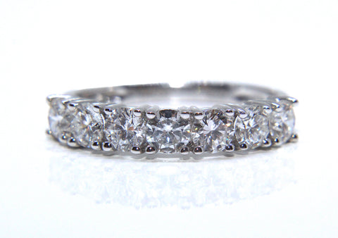 18ct White Gold Round Brilliant Diamond Eternity Ring 1.26ct Campbell Jewellers