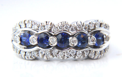 Campbell Blue Sapphire & Diamond Ring 0.96ct
