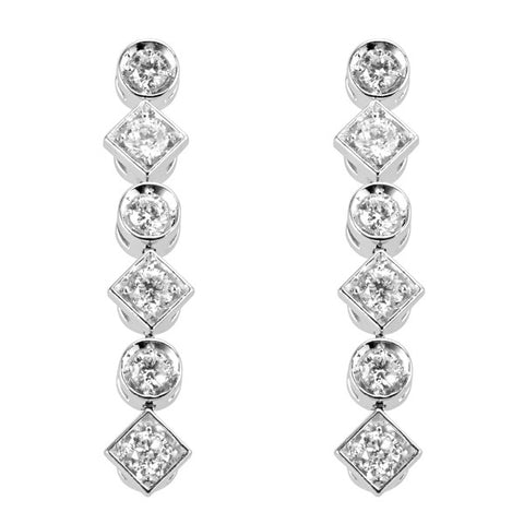 Campbell Fine Diamond 18ct White Gold Drop Earrings 0.35ct - Campbell Jewellers  - 1