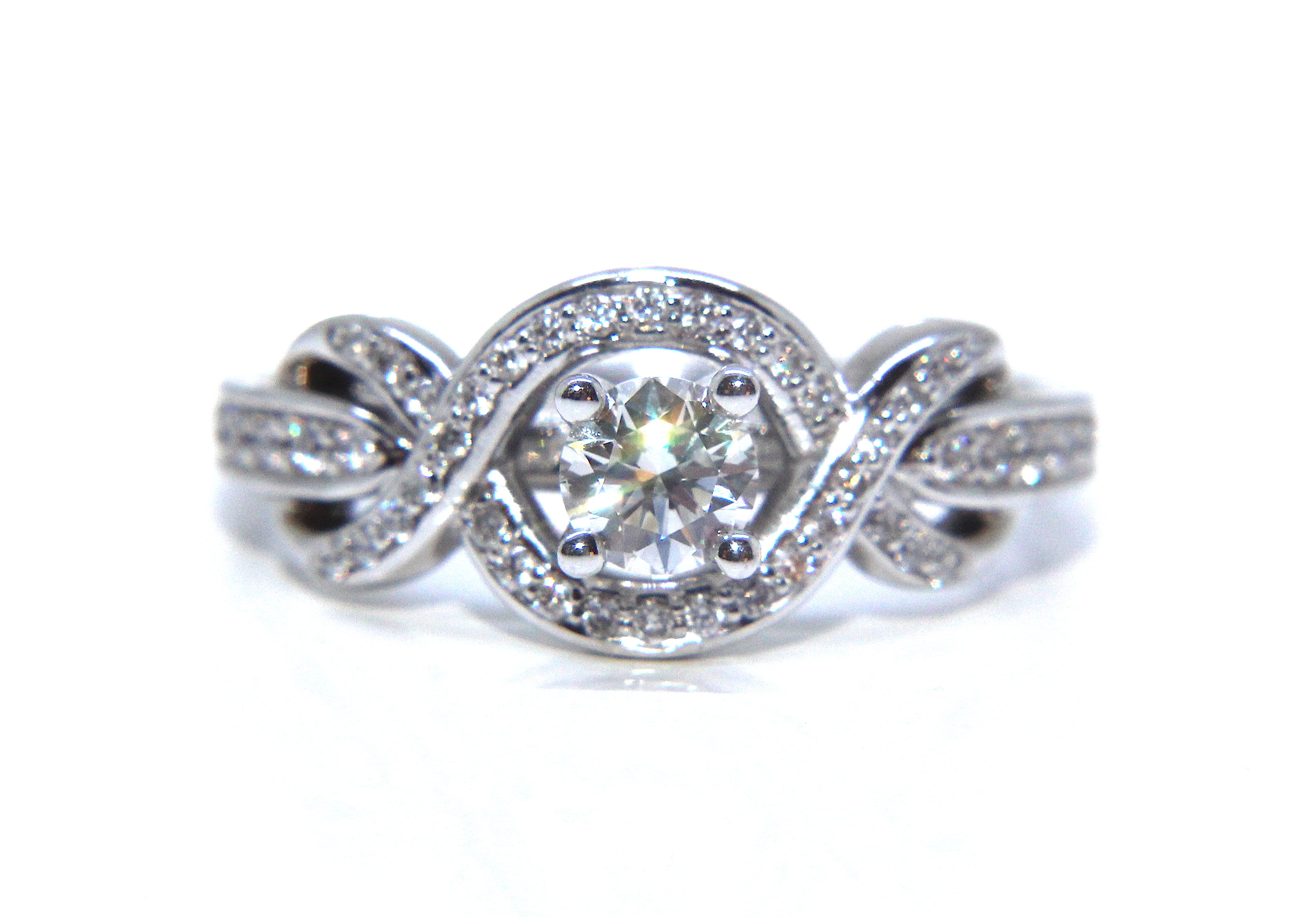 rg gold carrie rings engagement infinity k ring products rose