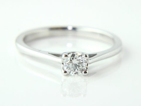 Campbell 18ct White Gold Solitaire Diamond Engagement Ring 0.25ct - Campbell Jewellers - 1