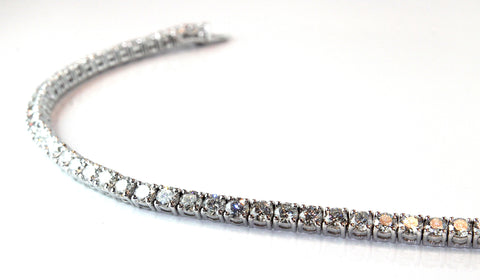 Campbell Fine Diamond Tennis Bracelet 6.05ct - Campbell Jewellers  - 1