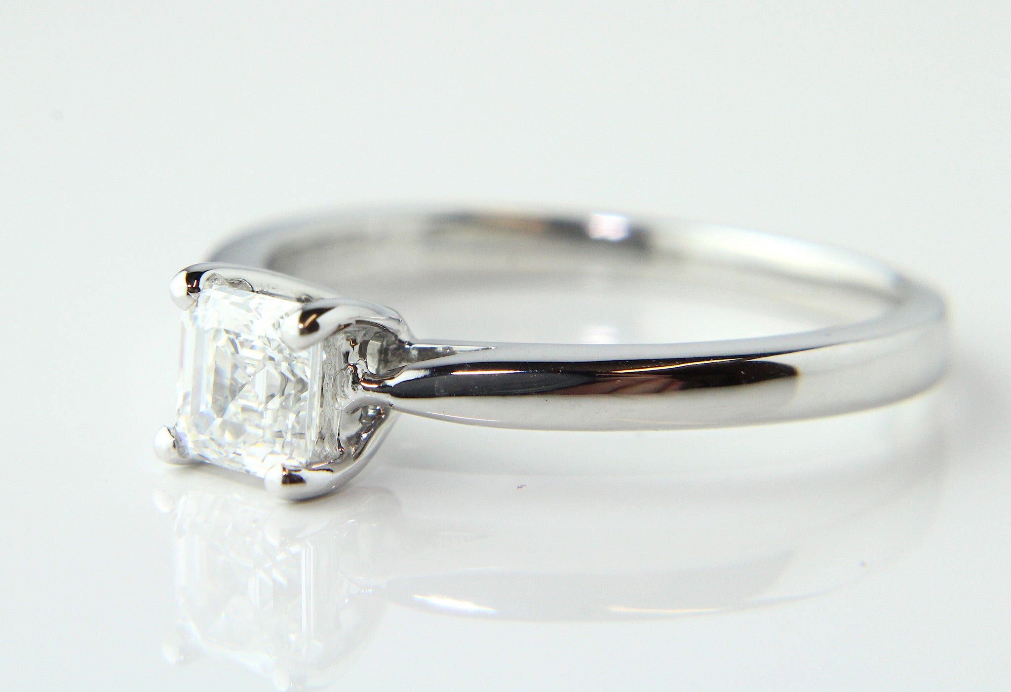 rings solitaire ring dublin diamond asscher engagement the classic campbell jewellers products specialist s cut finest